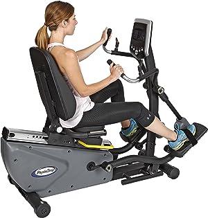 HCI Fitness Physio Step HXT Recumbent Compact Semi-Elliptical Cross Trainer, Grey/Black
