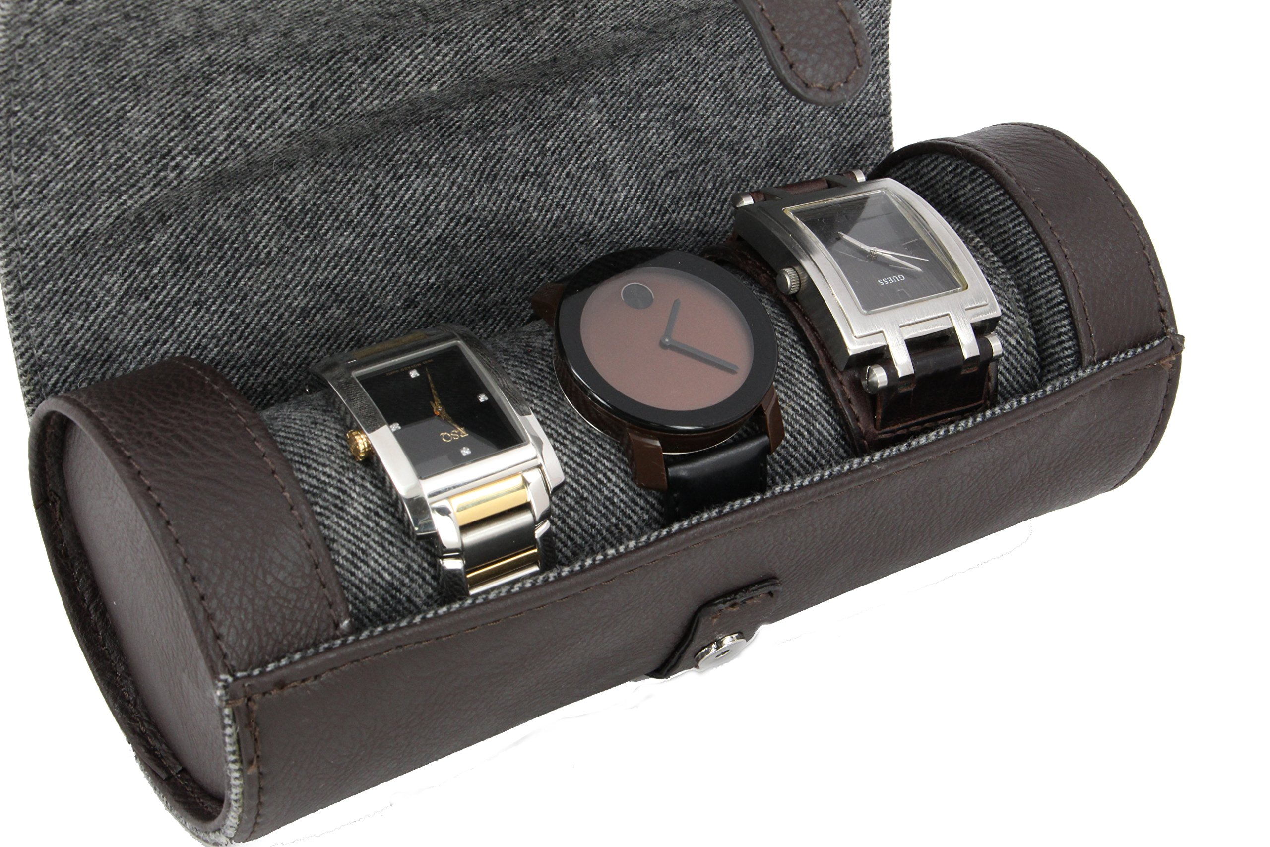 Executive High class Men's Watches and Bracelets Jewelry Box Gift (Buff) by decore Bay (Image #5)