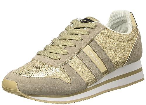 Versace Jeans Ee0Hpbsa1_E75576, Zapatillas de Estar por casa para Mujer, Dorado (Oro E901), 37 EU: Amazon.es: Zapatos y complementos