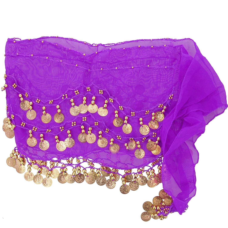 Orientali danza del ventre hip sciarpa delle signore sciarpa sciarpa viola