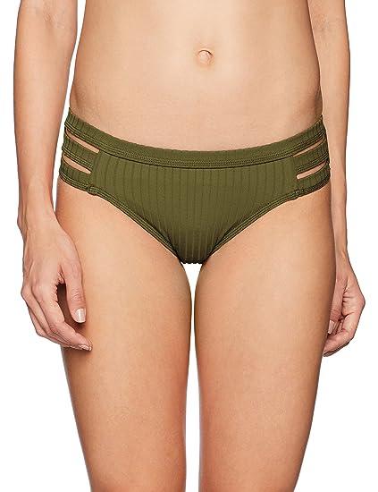 6e124ccd0bd Seafolly Women's Multi Strap Hipster Bikini Bottoms, Inka Rib Dark Olive,  ...