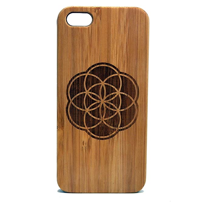 info for 5c461 25ff4 iMakeTheCase Flower of Life iPhone 6 or iPhone 6S Case Sacred Geometry Seed  of Life New Age Meditation Awakening Bamboo Wood Cover