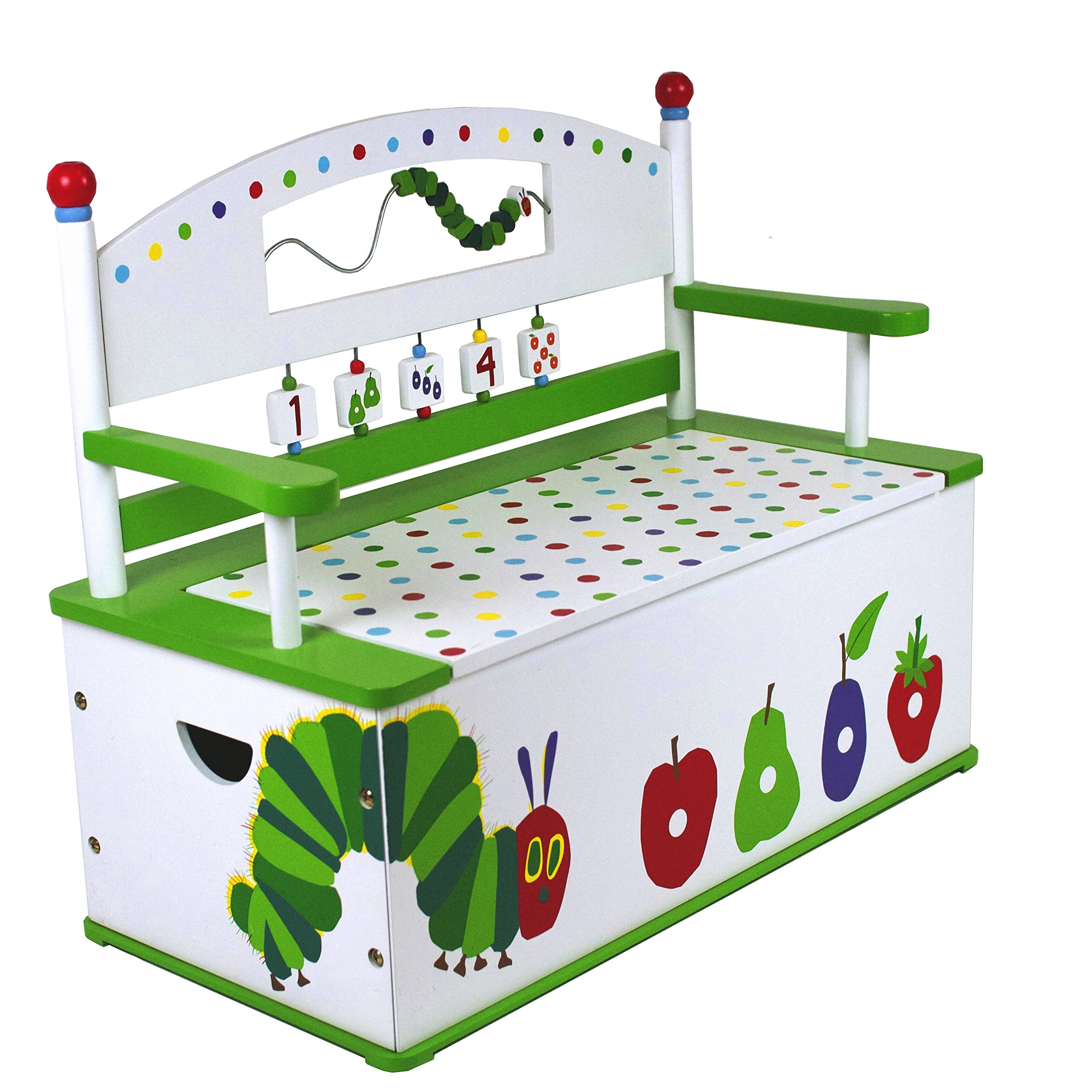 Very Hungry Caterpillar Toy Box Bench