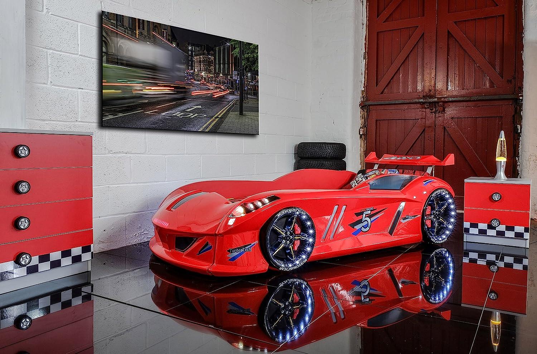 Carbed shop Coche Cama – Speedyboy Supercar Racer 91,44 cm Cama – Luces LED + Sonido – Rojo – para niños Camas: Amazon.es: Hogar