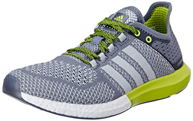 adidas Men's CC Cosmic Boost M Grey and Green Mesh Running Shoes ...