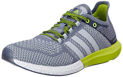 19250812d6100c Adidas Men s CC Cosmic Boost M Grey and Green Mesh Running Shoes - 6 ...