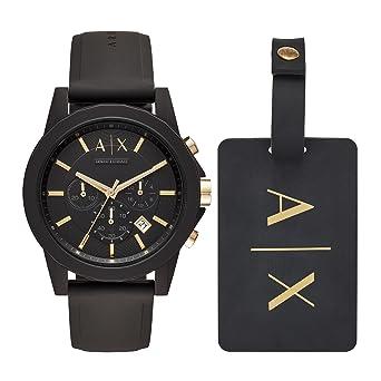 dbeb03a85620 Armani Exchange Reloj Cronógrafo para Hombre de Cuarzo con Correa en  Silicona AX7105  Amazon.es  Relojes