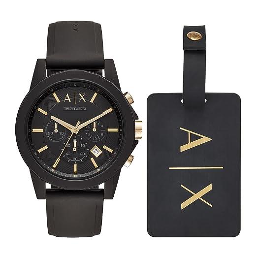 Armani Exchange Men s Chronograph Quartz Watch with Silicone Strap AX7105   Amazon.co.uk  Watches ce5f2821b5