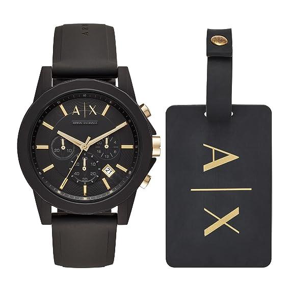 Armani Exchange Reloj Cronógrafo para Hombre de Cuarzo con Correa en Silicona AX7105: Amazon.es: Relojes