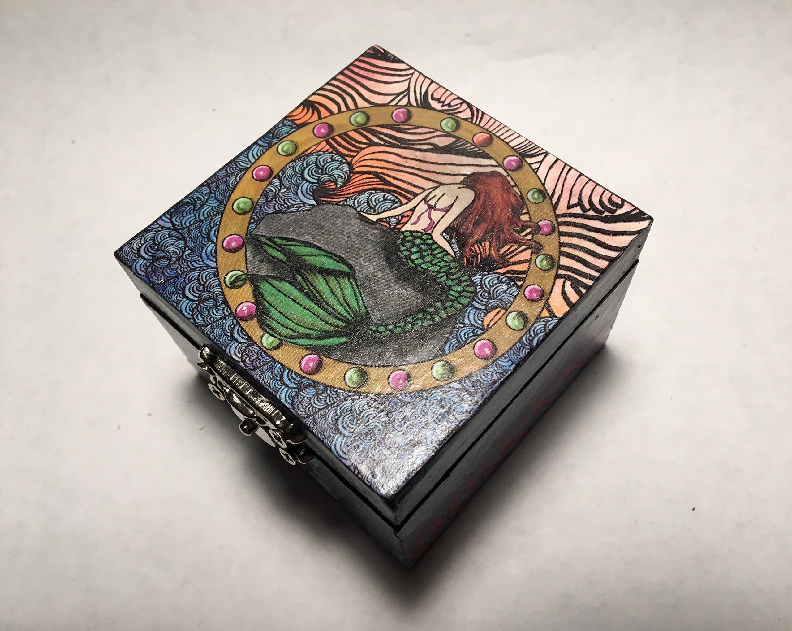 Ariel Little Mermaid Inspired Proposal Engagement Ring Box Box Bearer Pillow Box Customizable