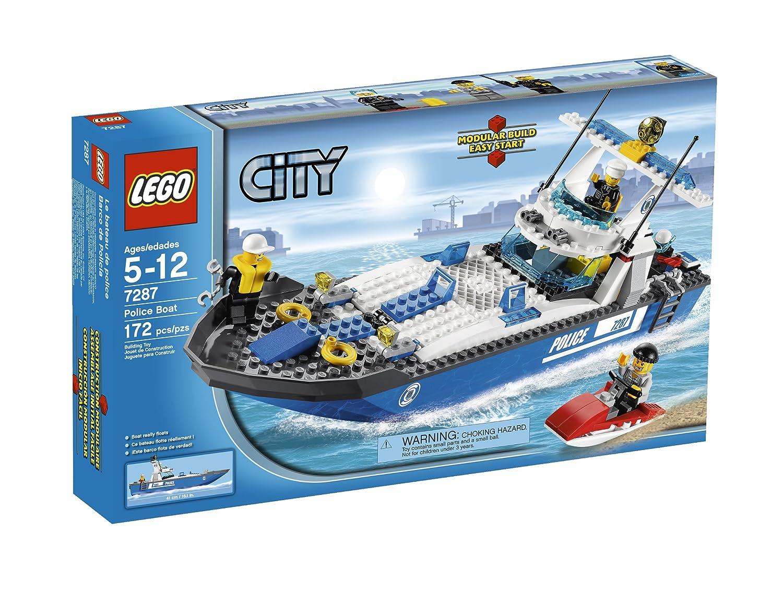amazoncom lego police boat 7287 toys games - Lego City Bateau