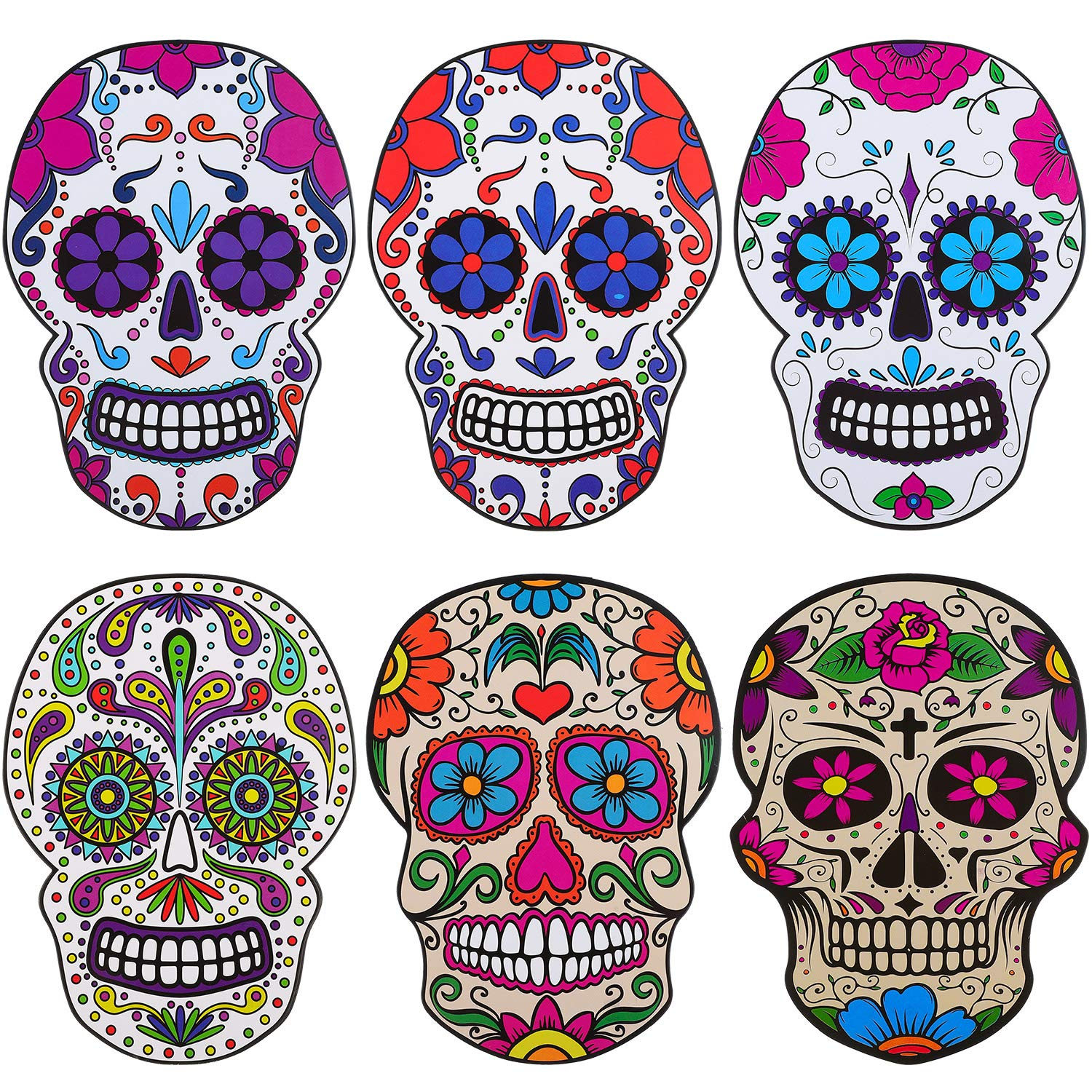 Halloween Skull Decorations.Zonon 30 Pieces Sugar Skull Decor Halloween Day Of The Dead Sugar Skulls Colorful Skull Decorations For Craft Collection Party Accessories Buy Online In India At Desertcart In Productid 219876265