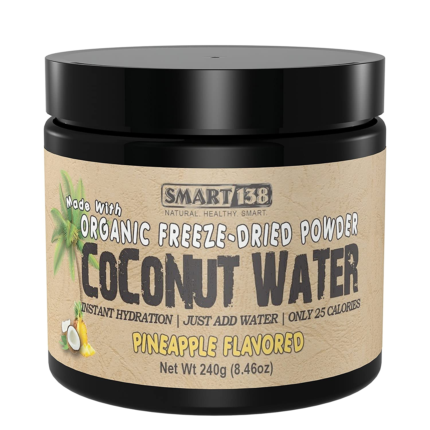 Organic Freeze-Dried Coconut Water Powder, Instant Hydration, Just Add  Water, Low Calorie