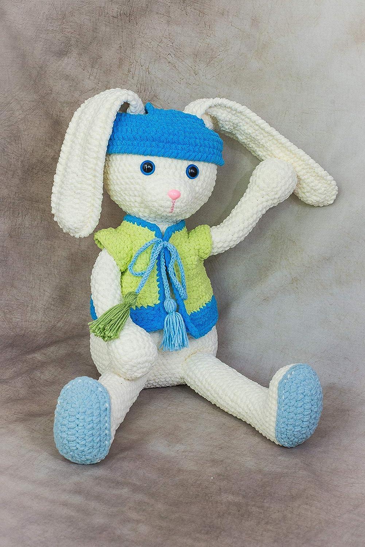 big stuffed amigurumi Handmade crocheted Bunny toy