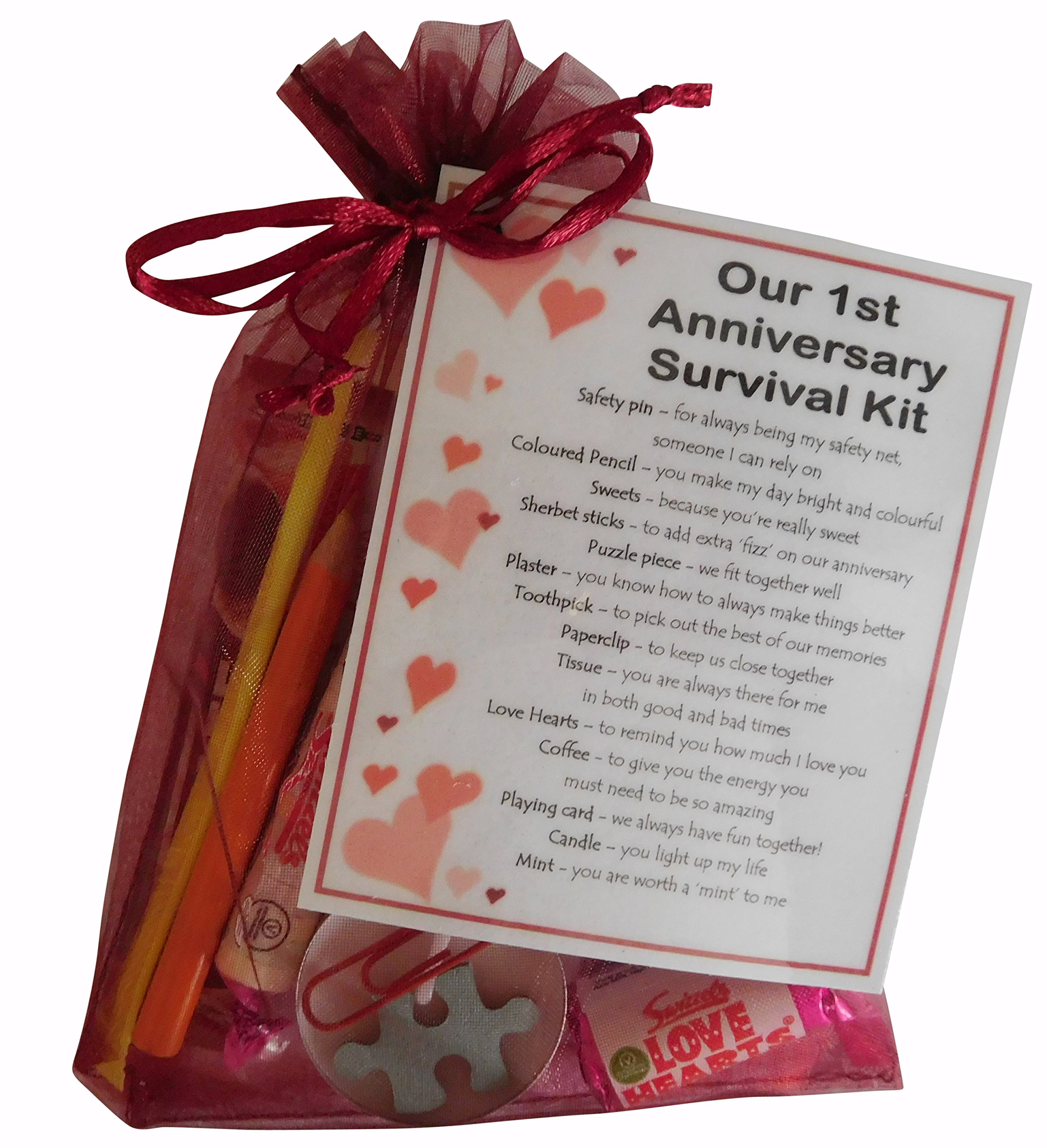 Smile Gifts Uk 1st Anniversary Survival Kit Gift Great Novelty Present For First Anniversary Or Wedding Anniversary For Boyfriend Girlfriend Husband Wife Buy Online In Pakistan At Desertcart