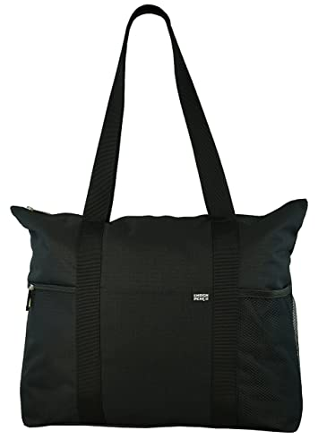 Amazon.com: Shoulder Tote with Multiple Pockets and Zipper Closure ...