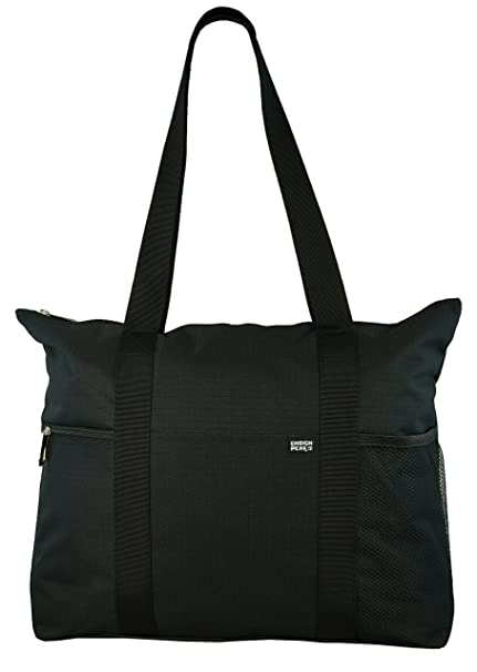 581614e42f26 Shoulder Tote with Multiple Pockets and Zipper Closure