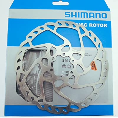 SHIMANO Deore RT66 180mm 6-Bolt Disc Rotor: Sports & Outdoors