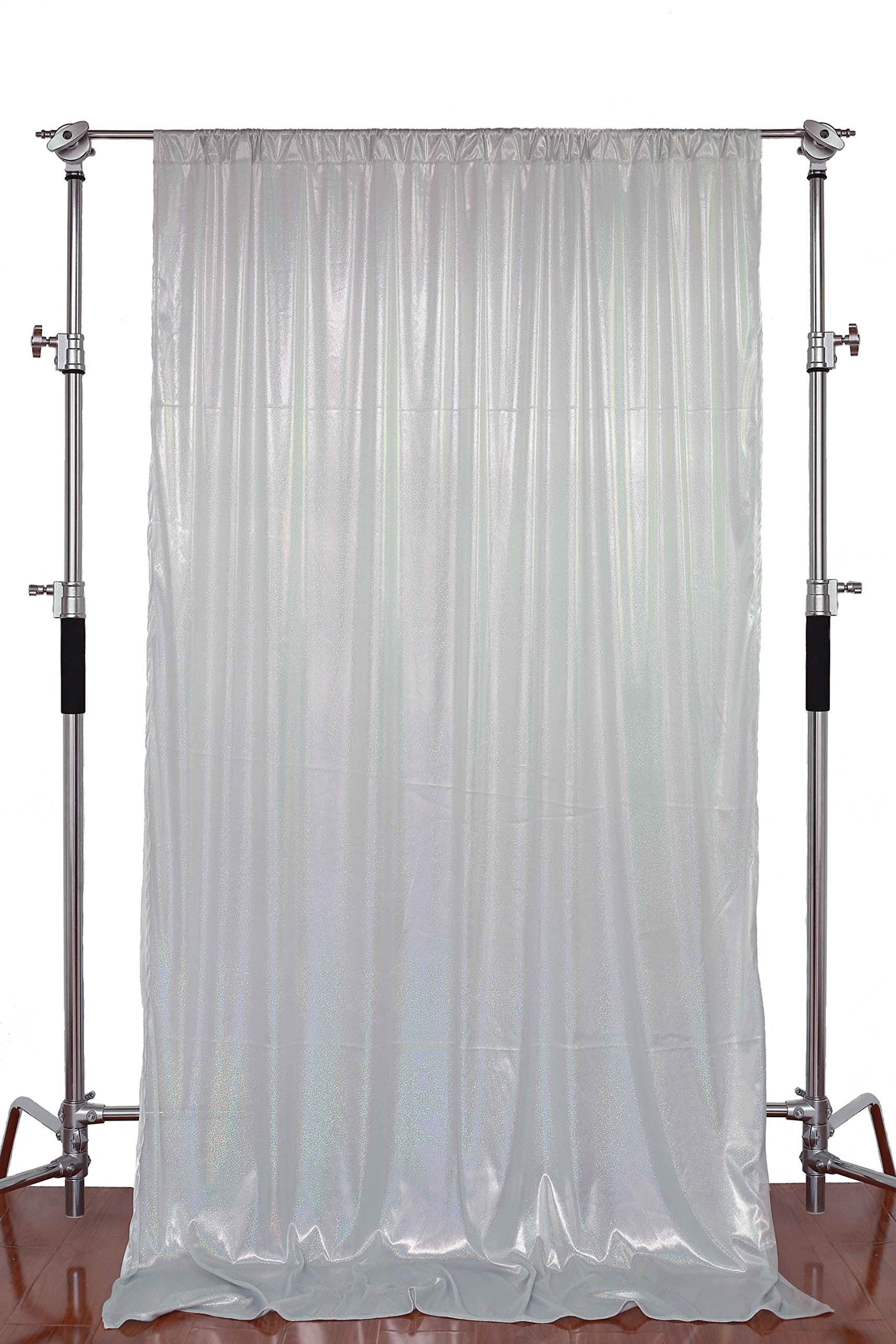 FUERMOR Background 5x7ft Silver Cloth Photography Backdrop Curtain Party Decoration Photo Video Shooting Props FUTJ002