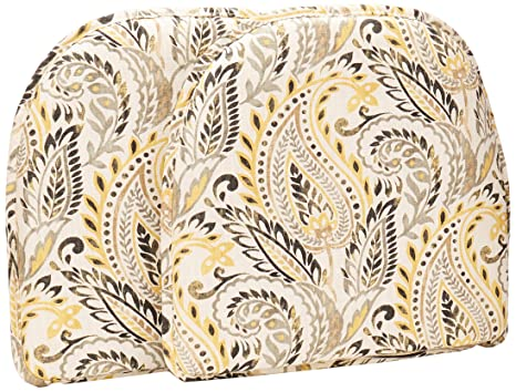 Remarkable Klear Vu Algura Paisley Designer Non Slip Fabric Chair Cushion Pad 15 X 16 Set Of 2 Chairpads Graystone Beutiful Home Inspiration Truamahrainfo