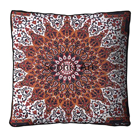 Amazon.com: Multi Star moon Tapestry Meditation Cushion Boho ...