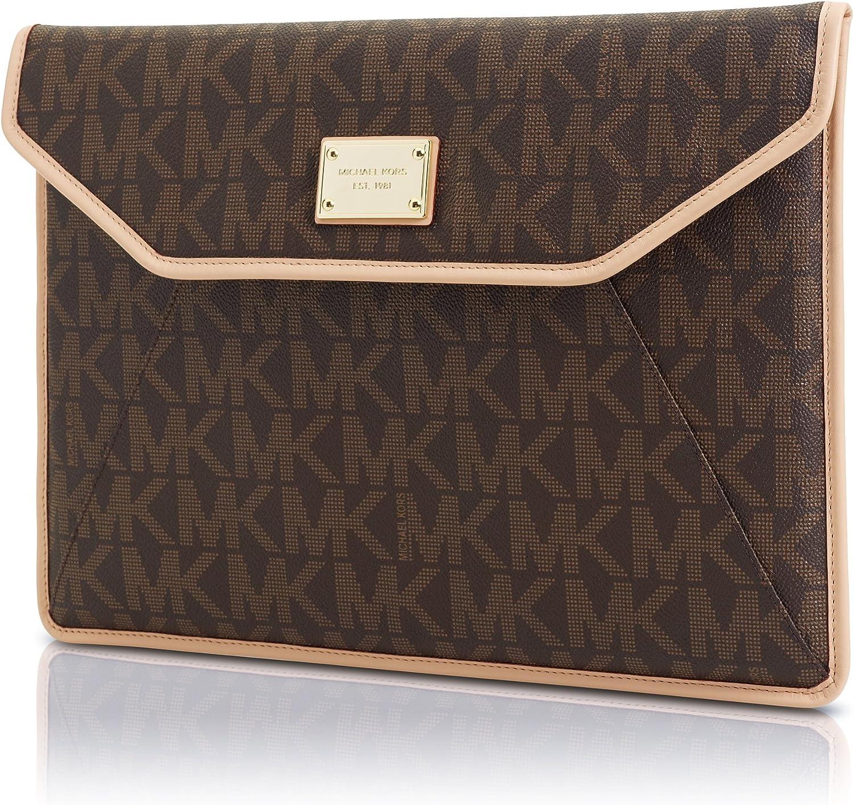 Michael Kors-Slim MK-Monogram-Housse en cuir pour Macbook Air 13 ...