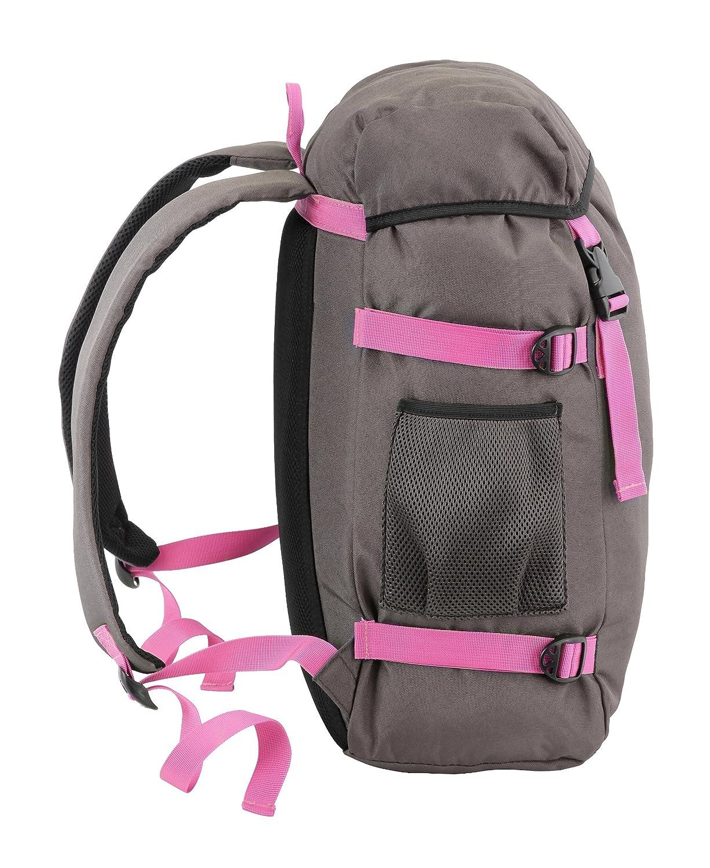 Aquabourne Waterproof Laptop Rucksack - Dark grey / pink: Amazon ...