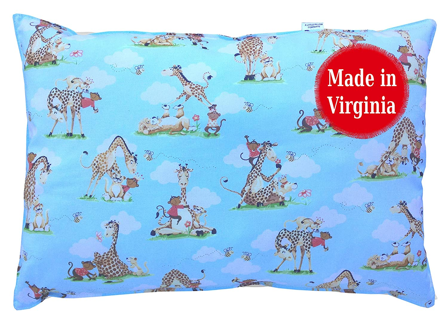 Toddler Pillow (Sheep) - 13 x 18 - Double Stitched - Machine Washable - Hypoallergenic - Made in Virginia by A Little Pillow Company TP-SHEEP