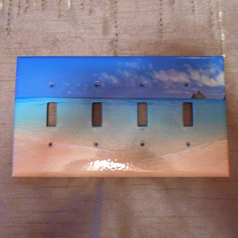 Cover BEACH OCEAN QUADRUPLE QUAD Light Switch Plate