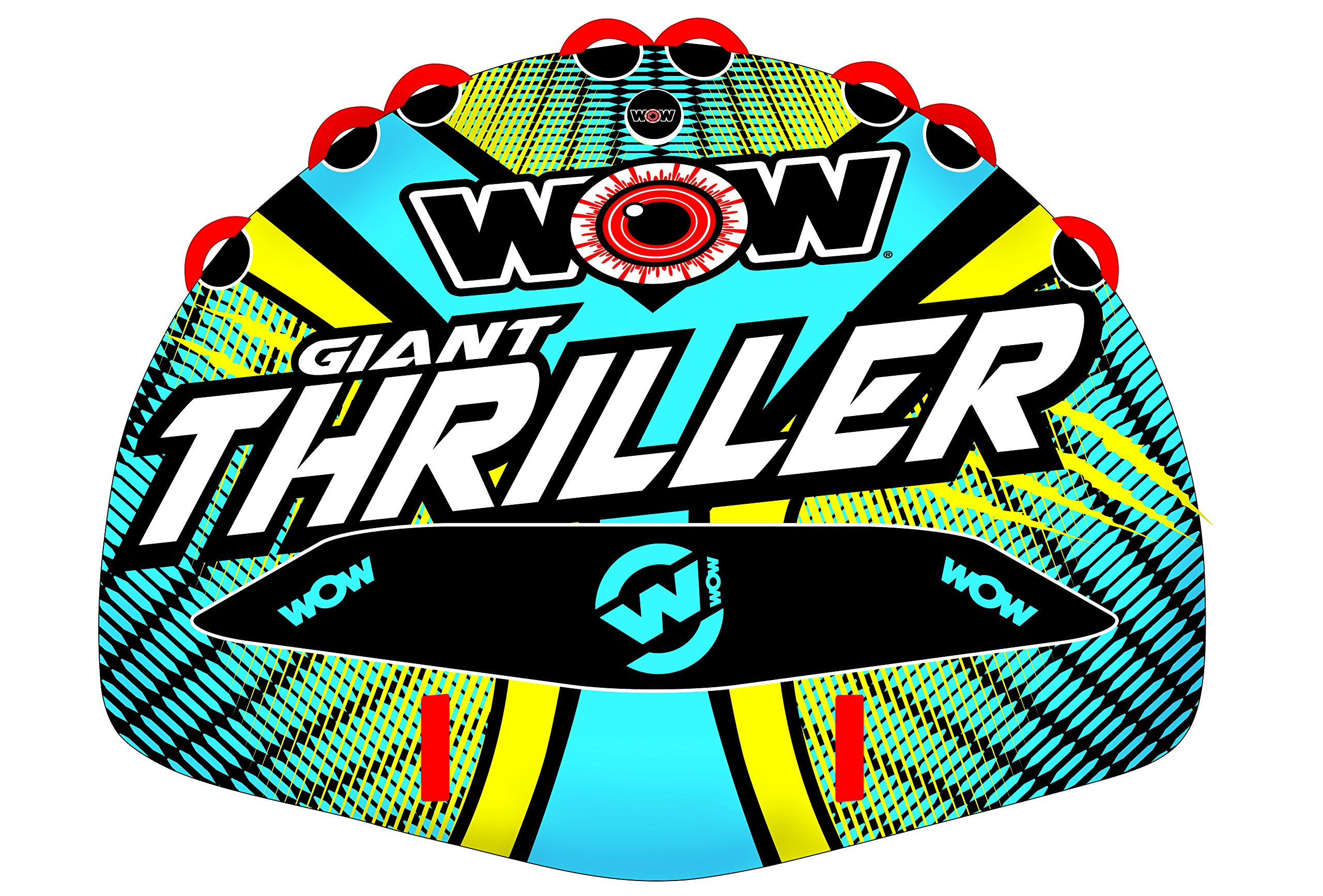 Wow Watersports Thriller Deck Tube Water Towable Tube Inflatable Boat Tube, Wild Wake Action - Water Sports Inflatables - Towable Tube for Boating 4 Person by WOW Sports