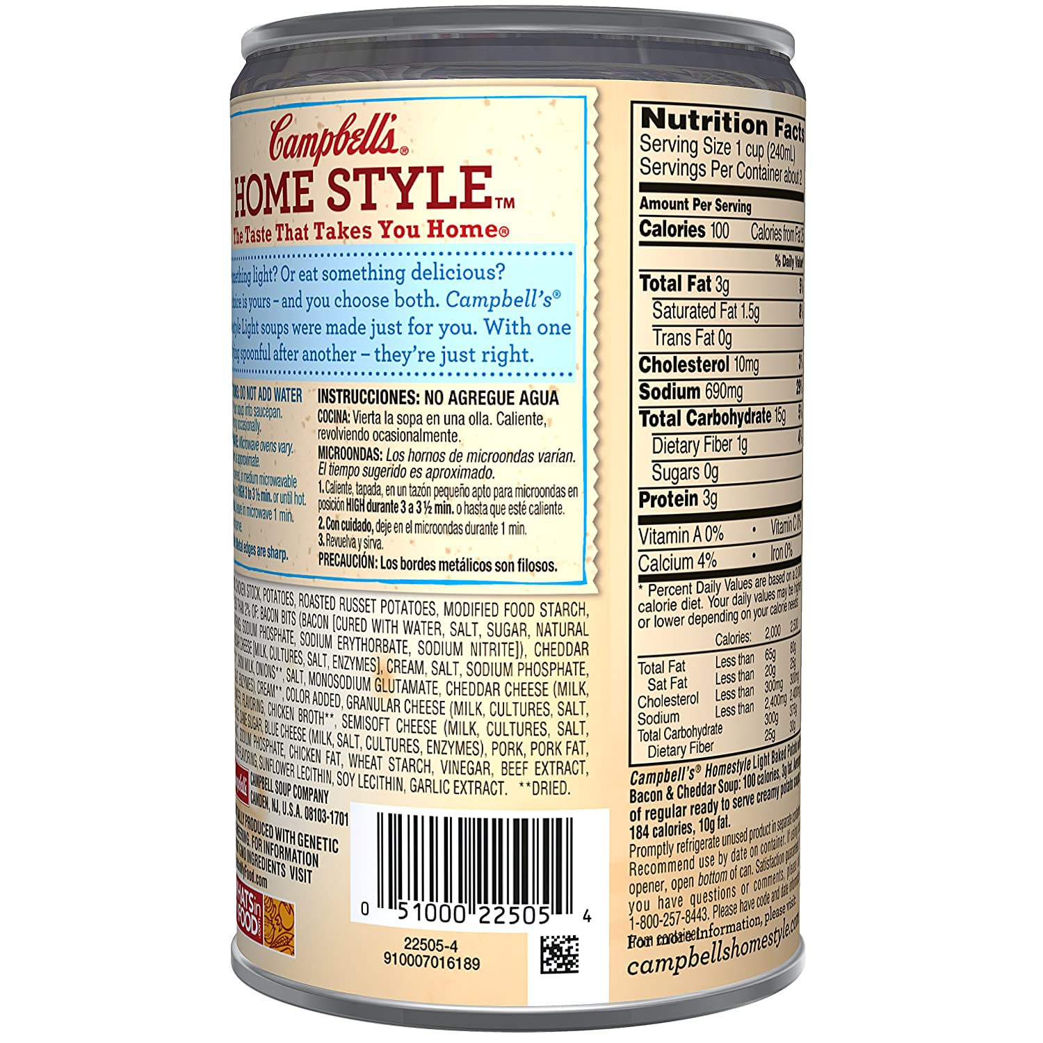 Amazon.com : Campbells Homestyle Soup, Baked Potato with ...