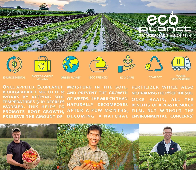 EcoPlanet - Película de plástico biodegradable para jardinería ...