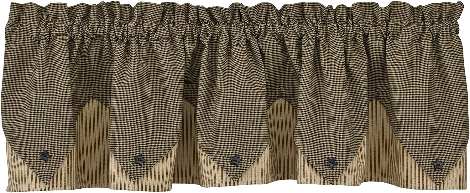 Park Designs Primitive Star Lined Point Valance, 72 x 15