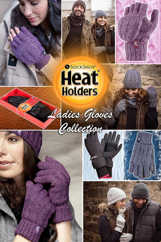 /Damen Thermo Hitze Handschuhe/gewoben mit Zopfmuster 2,3/Tog Heat Holders/ /S//M