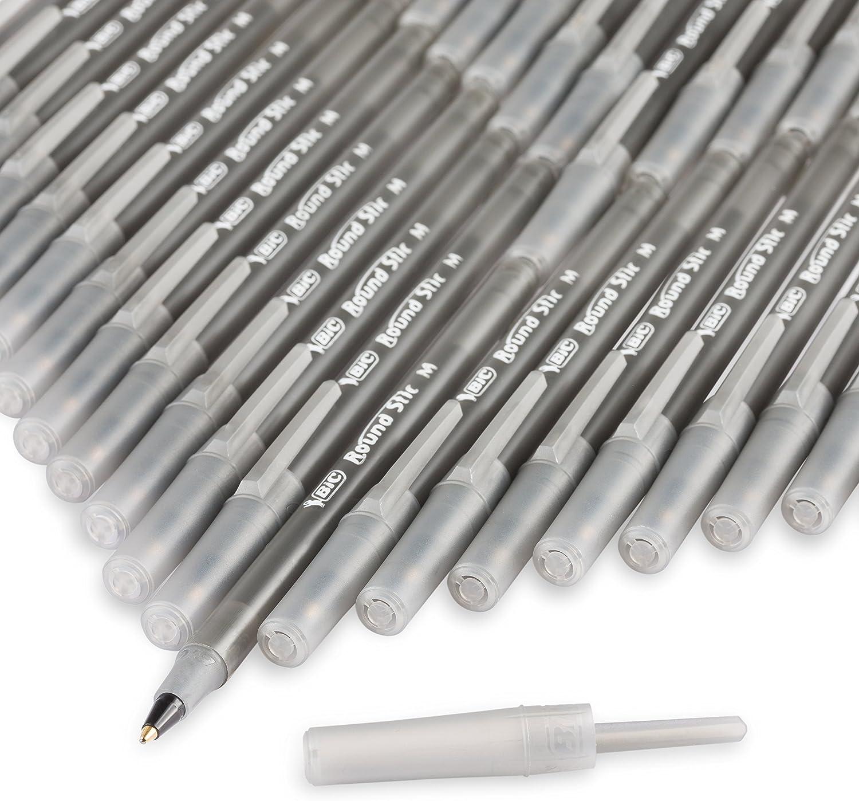 GSM216-BLU BIC Round Stic Xtra Life Ballpoint Pen 1.0mm Medium Point - Pack of 216 Blue Pens