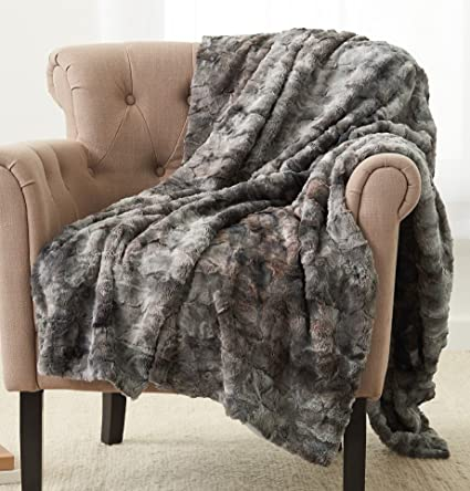 Exceptionnel Pinzon Faux Fur Throw Blanket 50u0026quot; X 60u0026quot;, ...