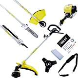 All in one Power Multi Tool Tomking 38 cc 4 Stroke 5 In 1 Outdoor Hedge Trimmers strim, brush Cutter, Chainsaw, Hedge Trim and Prune