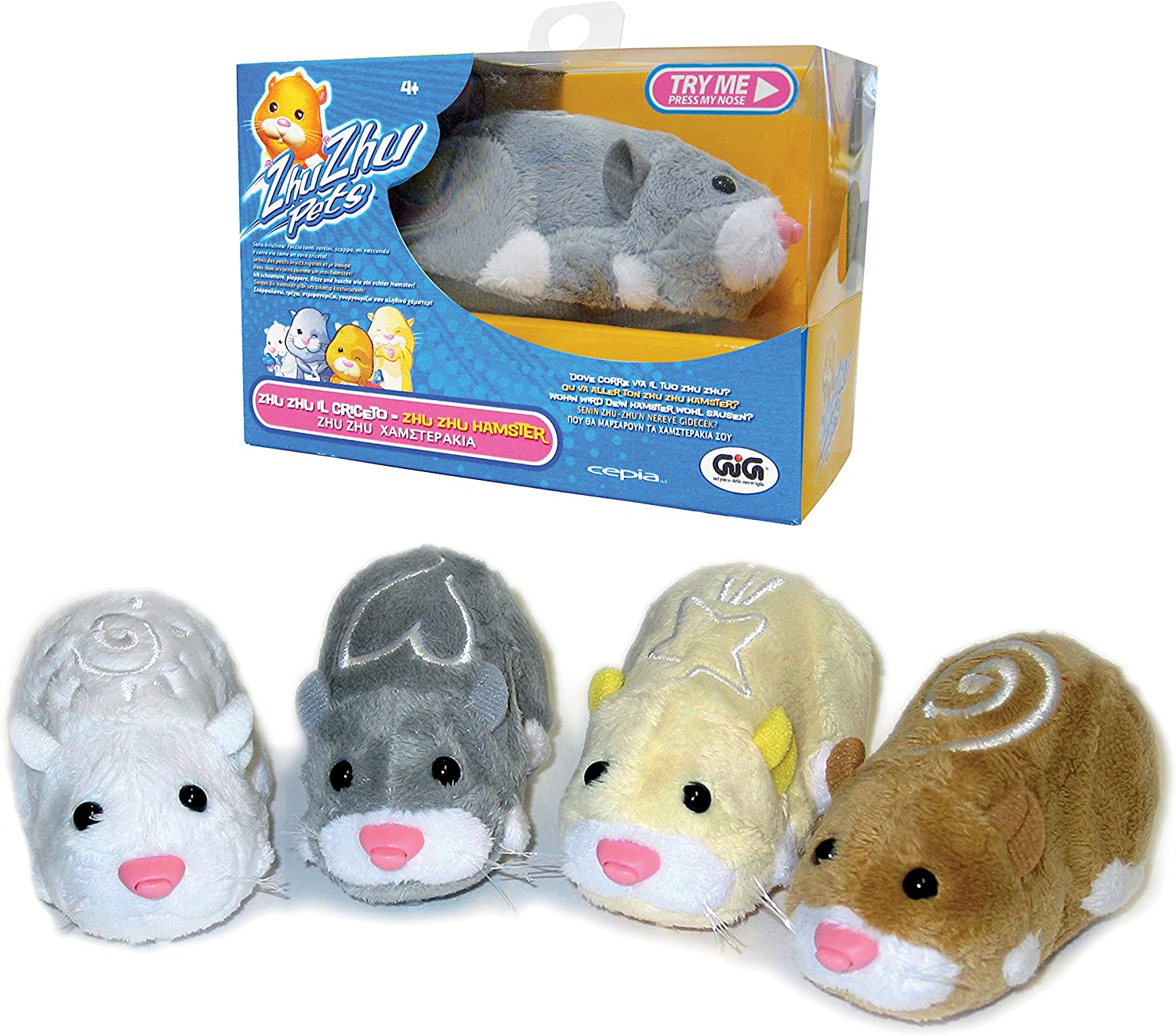 Amazon Com Giochi Preziosi Spa Zhu Zhu Pets Hamster Tv Toys Games