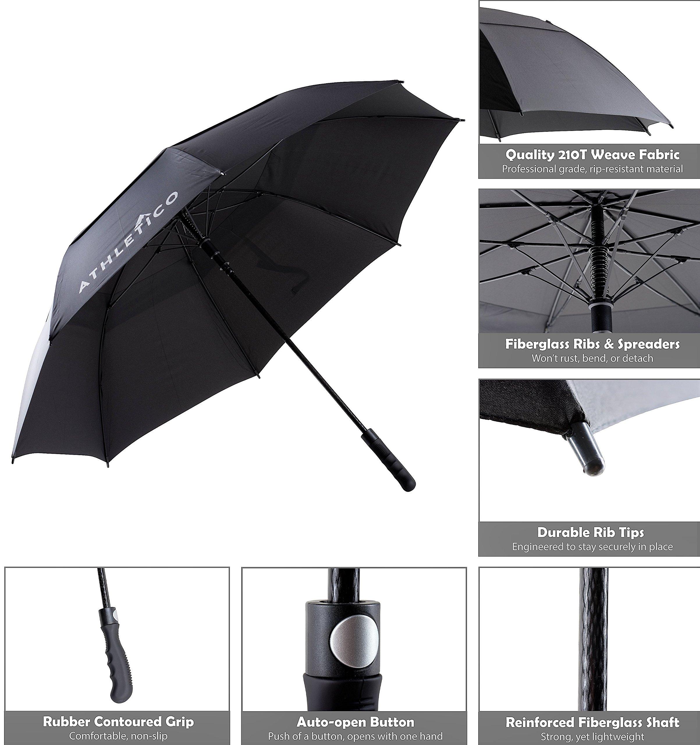 Athletico 62 68 Inch Automatic Open Golf Umbrella Extra