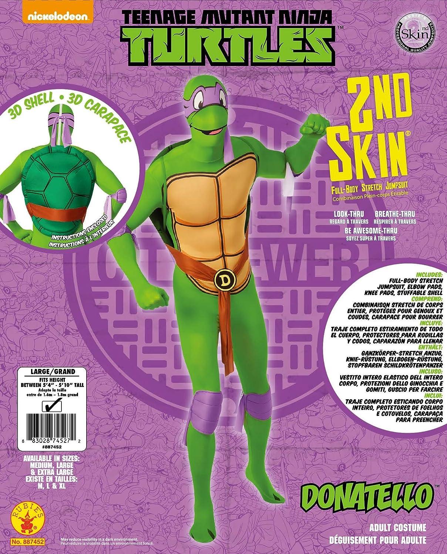 Disfraz oficial de la Tortuga Ninja Donatello, segunda piel de Rubies, para adultos, talla XL.: Amazon.es: Juguetes y juegos
