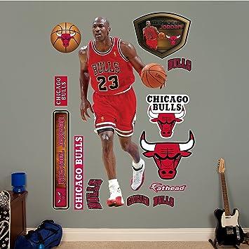 NBA Chicago Bulls Michael Jordan Fathead Real Big Decals, 3u00271u0026quot; ... Part 97
