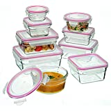Glasslock Oven Safe Glass Container, 9-Piece Set, Clear, GL-474