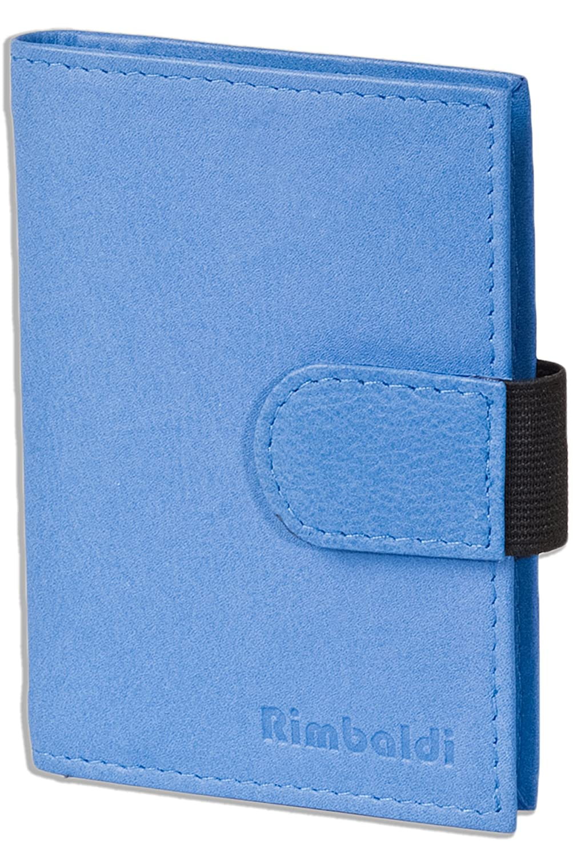 Rimbaldi - XXL-Kreditkartenetui aus Kalbsleder Kartenfächern aus weichem, naturbelassenem Kalbsleder in Schwarz Blau LM-International Europa GmbH 6851608