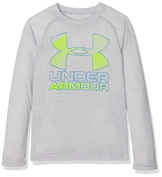27ab6abb0 Amazon.com: Under Armour Boys' Hybrid Big Logo Long Sleeve t: Clothing