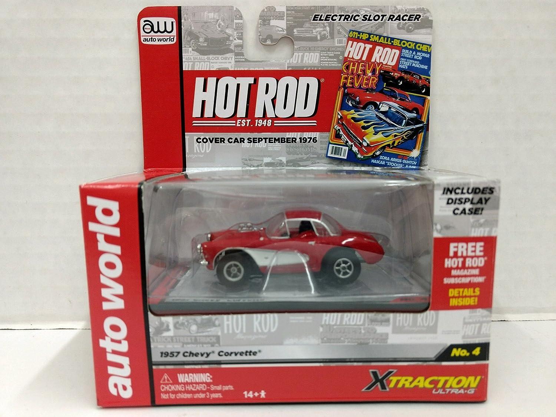 Auto World Sc272 Hot Rod Magazine 1957 Chevy Corvette Ho Chevrolet Scale Electric Slot Car Toys Games