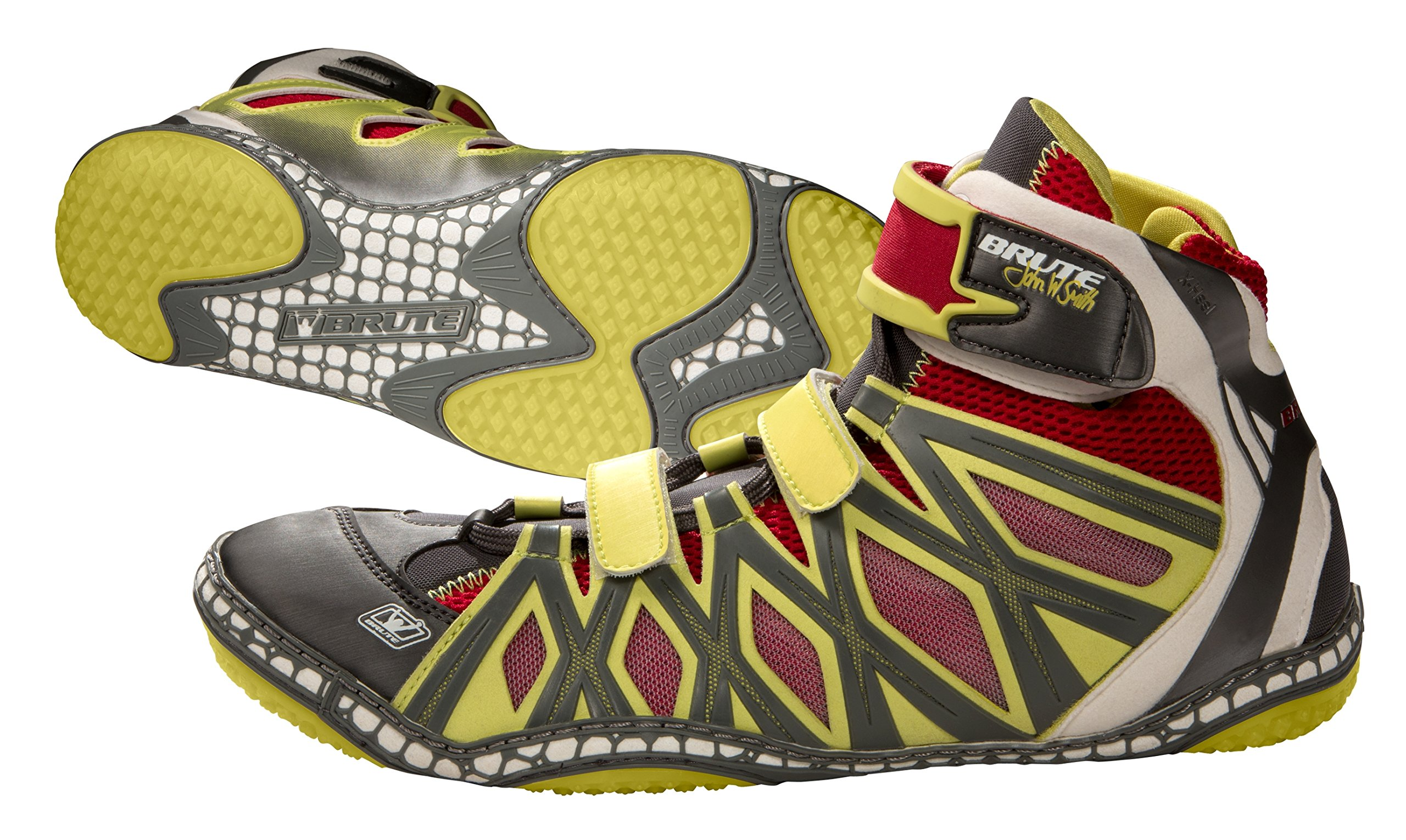 Brute JS25 Sun/Red/Silver Wrestling Shoes - 13