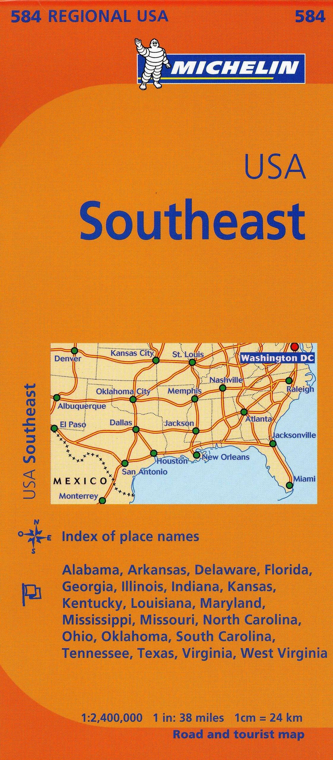 Michelin USA: Southeast Map 584 (Maps/Regional (Michelin ...