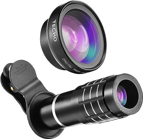 Techo Universal 12 X Zoom teleobjetivo lente, profesional HD Super ...