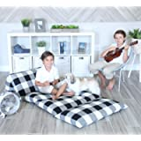 Butterfly Craze Pillow Bed Floor Lounger Cover - Perfect for Pillow Recliners & Kid Beds for Reading Playing Games or at…