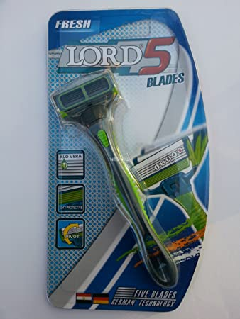 Amazon.com: LORD FRESH Razor With 5-Blade Technology Flexible Swiveling with 6 cartridges: Beauty